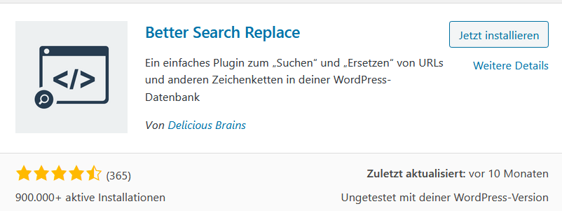 Better Search and Replace WordPress Plugin