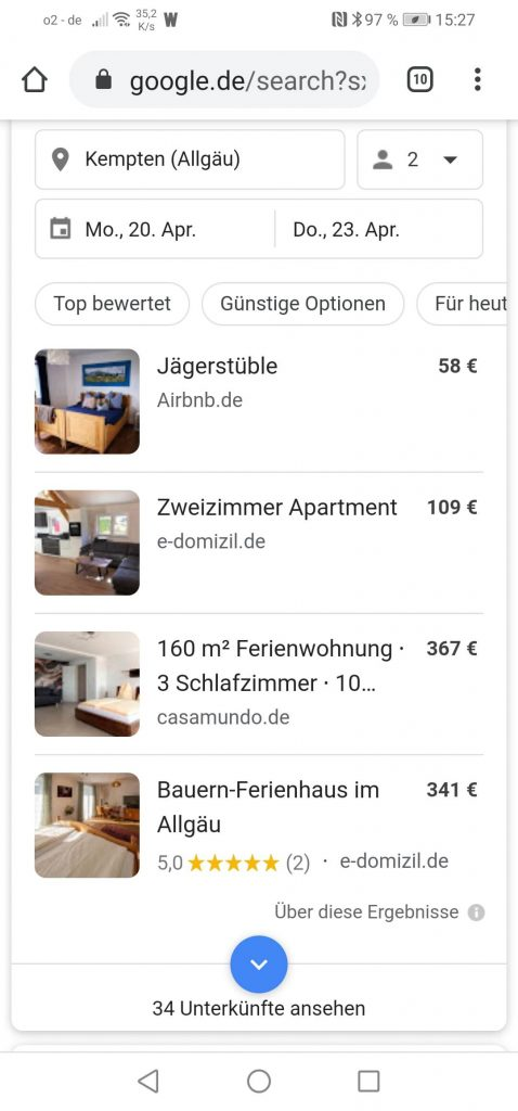 Locale SEO Allgäu: Ferienwohungen Ferienwohnungen im Allgäu