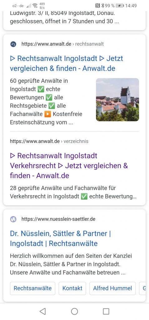 Local SEO Ingolstadt: Rechtsanwälte