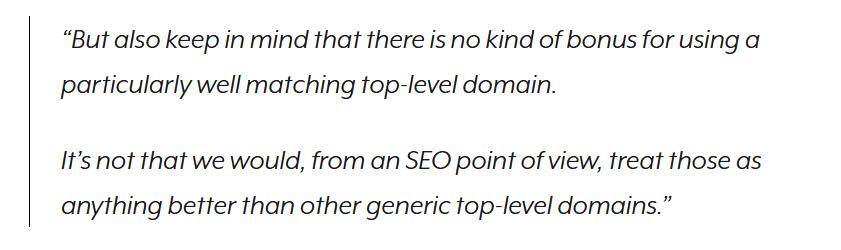 Auch extrem passende nTLDs bringen keinen Google Vorteil
