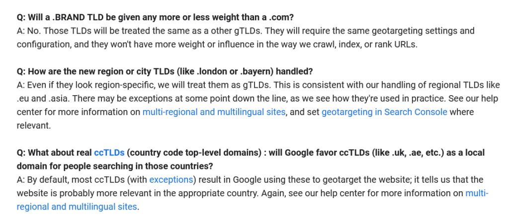 nTLDs bringen keinen Google Ranking-Vorteil