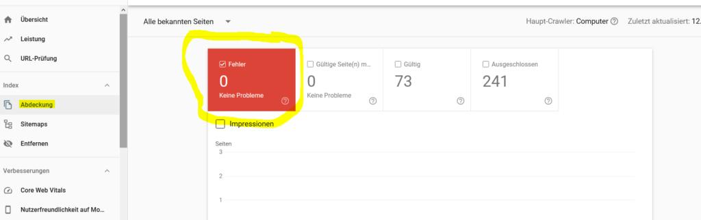 Grund 2 Seite erscheint nicht in Google - 404 Fehler