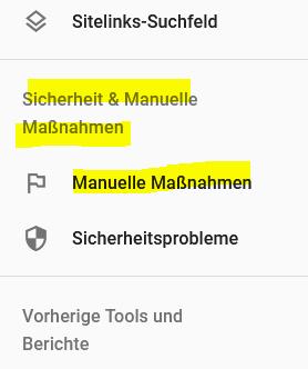 Grund 3 Seite erscheint nicht in Google - manuelle Maßnahme