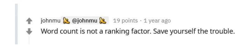 Textlänge ist kein Google RankingFaktor