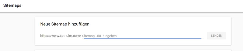 XML Sitemap bei Google einreichen
